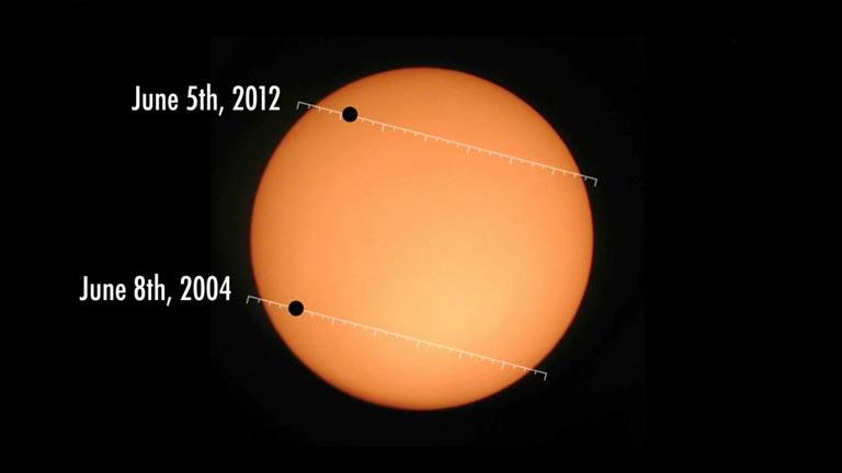 Venus transitará por delante del Sol el 5 de junio