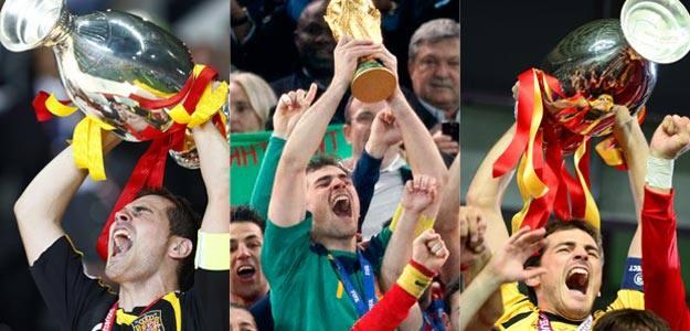 Las tres Copas que ha levantado Casillas