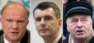 """Tres """"sabios"""" y un novato, los rivales de Putin"""