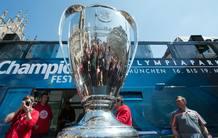 El trofeo de la Liga de Campeones, en Múnich