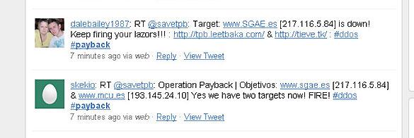 El llamamiento de la operación, denominada 'Payback', se ha extendido rápidamente por Twitter.