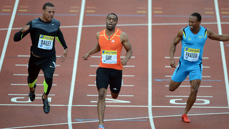 Tyson Gay vence en la Liga Diamante