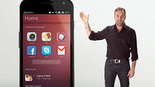 "Mark Shuttleworth, presidente de Canonical, presentando ""Ubuntu for Phones""."