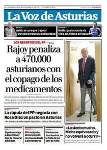 Última portada de 'La Voz de Asturias'