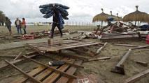Un tornado y fuertes lluvias causan destrozos en Málaga