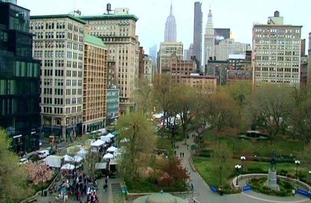 Union Square, manifestódromo oficial de la ciudad, acoge cada semana un mercadillo de productos ecológicos - Buscamundos
