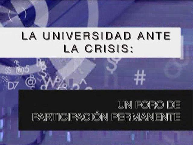 UNED - La Universidad ante la crisis, un foro de participación permanente