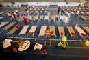 Unos 40 vecinos de Vilaflor han dormido en el polideportivo de Granadilla