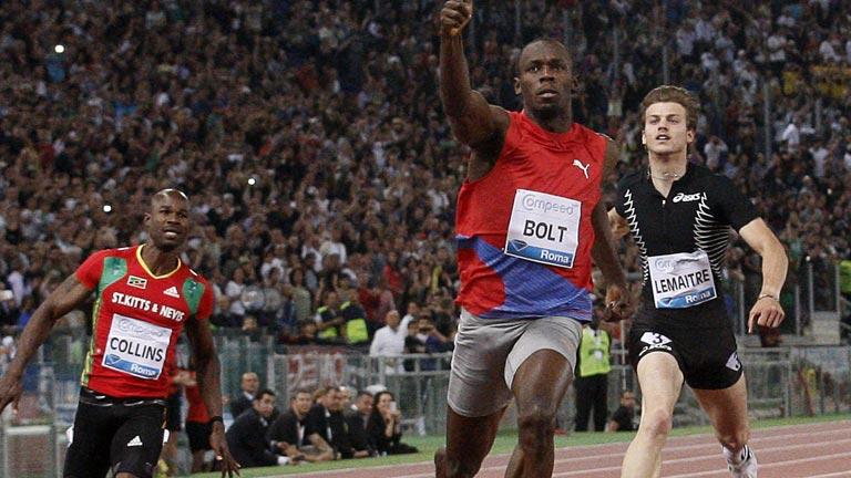 Usain Bolt marca el ritmo