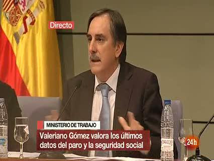 """Ver vídeo  'Valeriano Gómez considera """"malo sin paliativos"""" el dato del paro'"""