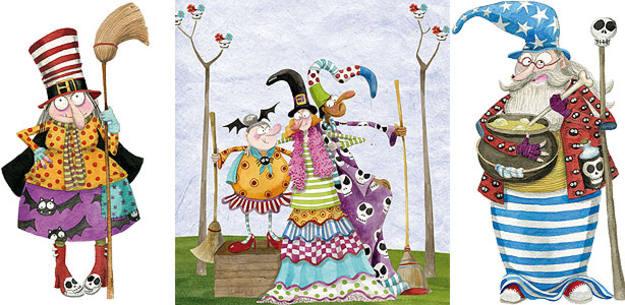 Varias brujas del libro 'Manual de Brujas', de Mónica Carretero