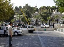 Vehículos de la ONU transportan al grupo de expertos en armas químicas en Damasco