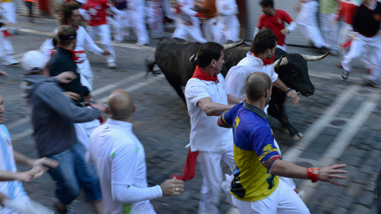 Vertiginoso s&eacute;ptimo encierro de San Ferm&iacute;n 2012, de J.P Domecq