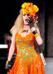 Vestido naranja - Betsey Johnson - Spring 2013 Mercedes-Benz Fashion Week