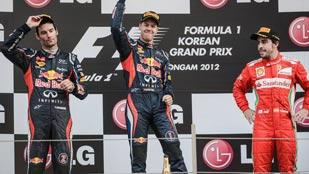 Vettel recupera el liderato Corea con Alonso, tercero