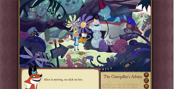 Imagen de la primera aventura de 'Living Classics' en el cuento de Alicia en el País de las Maravillas