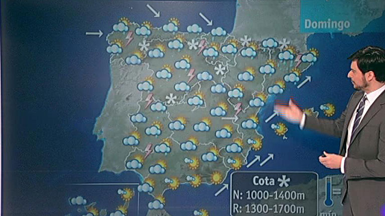 Viento fuerte en el Sureste peninsular y nevadas en la mitad Norte
