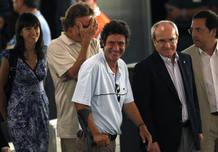 Vilalta and Pascual a su llegada a la rueda de prensa