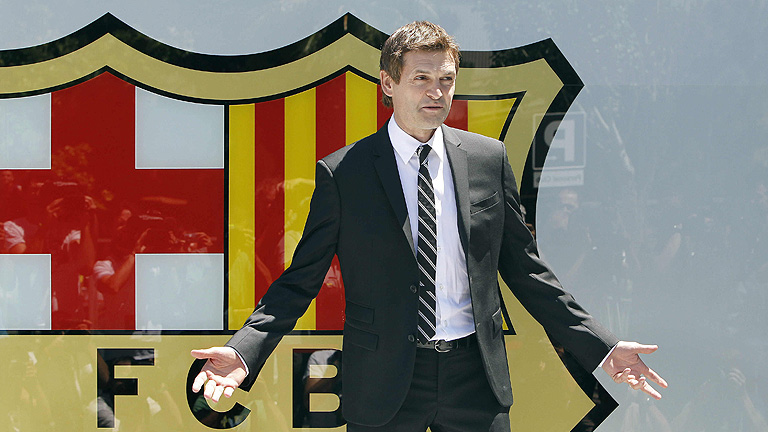 Vilanova firma su nuevo contrato con el Bar&ccedil;a