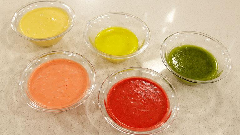 Saber cocinar - Truco - Vinagretas de colores