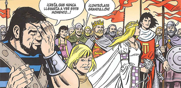 Viñeta de 'El Capitán Trueno: Atlántida', de Ricard Ferrándiz