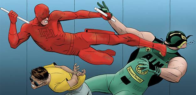 Viñeta de 'Daredevil', de Mark Waid y Marcos Martín