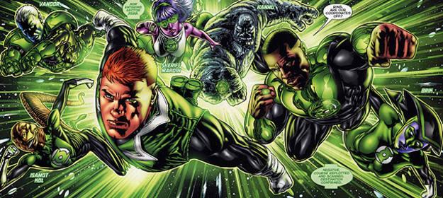 Viñeta de 'Green Lantern Corps', de Peter J. Tomasi y Fernando Pasarín