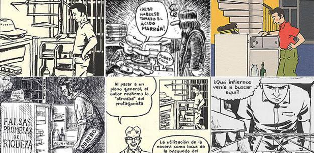 Viñetas de 6 de los '99 ejercicios de estilo' de Matt Madden