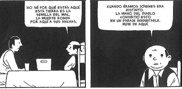 Viñetas de 'La mano del diablo', de Brais Rodríguez
