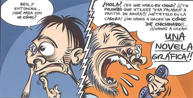 Viñetas de 'Otra puta novela gráfica', de Jorge de Juan