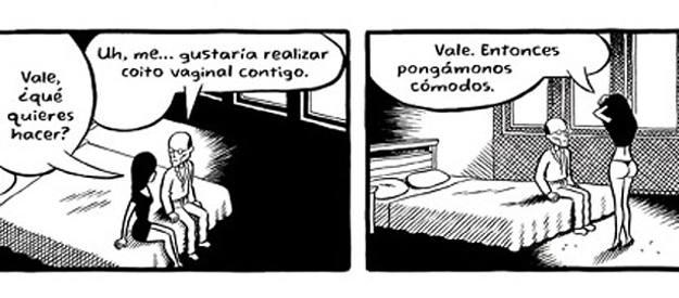 Viñetas de 'Pagando por ello', de Chester Brown