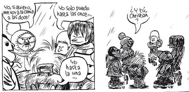 Viñetas de 'El pequeño Christian' de Blutch