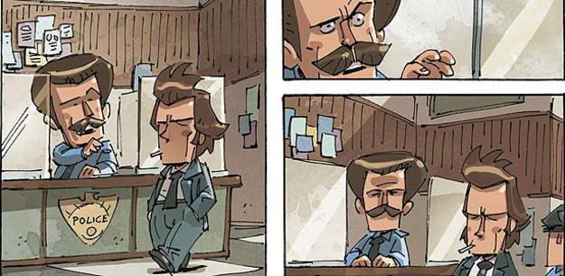 Viñetas de 'Quinto: no matarás', de Andrea Scopetta y Francesco Amodeo