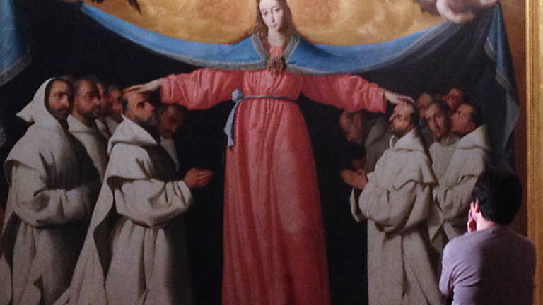 La mitad invisible - La Virgen de las Cuevas (Zurbarán)
