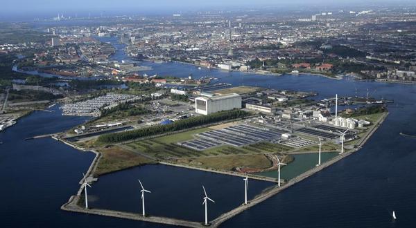 Vista aérea de la isla de Refshaleøen, donde se celebrará Eurovisión 2014