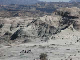 Ver v?deo  'Vista área de la excavación de Ischigualasto donde ha aparecido el Eodromaeus'