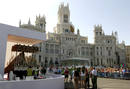 Vista general de la plaza de Cibeles a la espera del 