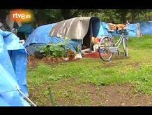 El equipo de 'En Portada' pudo comprobar como viven los sin techo, algo desconocido en Japón hasta aquel entonces