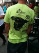 Una camiseta en que se detalla el recorrido de la Vuelta