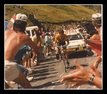 Perico Delgado en el Tour de 1988 en la subida a a Luz Ardiden