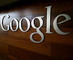 El logo de Google en las oficinas de la empresa en Mountain View, California