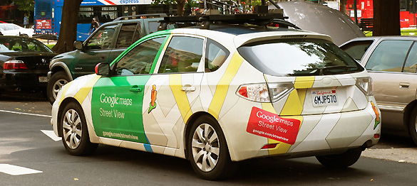 Un coche de Google Street View en Washington