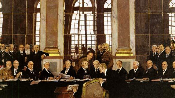 Cuadro de la firma del Tratado de Versalles, en 1919.