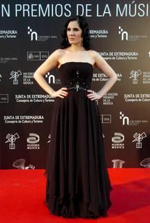 La cantante Diana Navarro, que ha recibido el premio al Mejor álbum de canción española