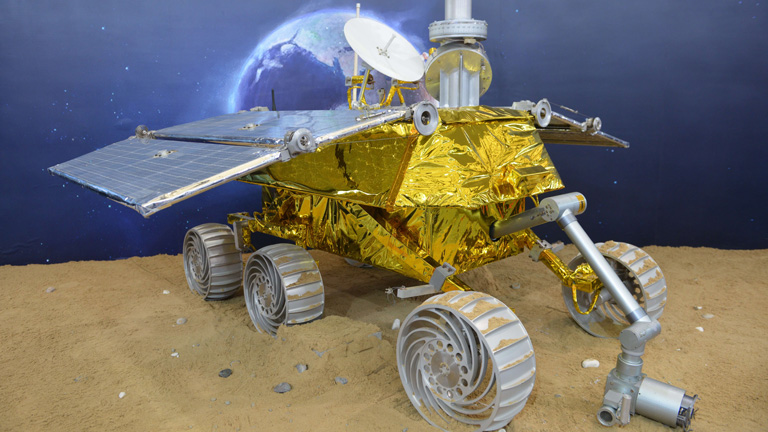 Yutu, el robot explorador de la sonda china no tripulada Chang'e 3, incorpora tecnología española