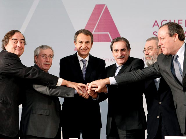 Ver v?deo  'Zapatero cree que el acuerdo social impulsará el empleo y el crecimiento'