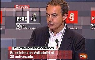 """Ver v?deo  'Zapatero: """"La lucha contra ETA es imparable""""'"""