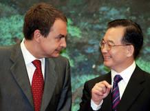 Zapatero y Wen Jiabao