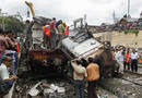 Ir a Fotogaleria  Brutal accidente de tren en India