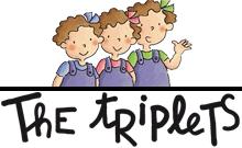 Logotipo de Las tres mellizas en inglés